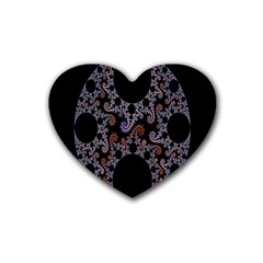 Fractal Complexity Geometric Rubber Coaster (Heart)