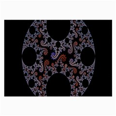 Fractal Complexity Geometric Large Glasses Cloth