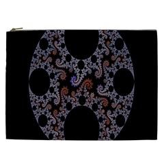 Fractal Complexity Geometric Cosmetic Bag (xxl)