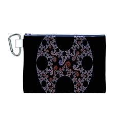 Fractal Complexity Geometric Canvas Cosmetic Bag (m)