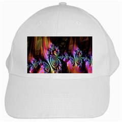 Fractal Colorful Background White Cap