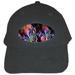 Fractal Colorful Background Black Cap
