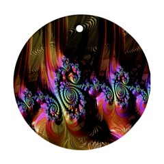 Fractal Colorful Background Ornament (Round)