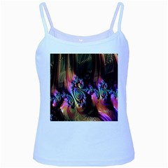 Fractal Colorful Background Baby Blue Spaghetti Tank