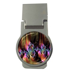 Fractal Colorful Background Money Clips (Round)