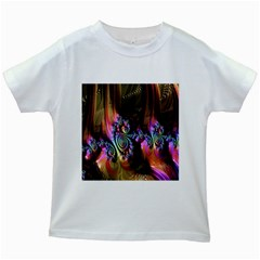 Fractal Colorful Background Kids White T-Shirts