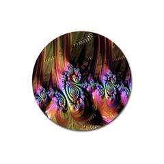 Fractal Colorful Background Magnet 3  (Round)