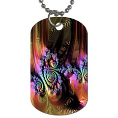 Fractal Colorful Background Dog Tag (Two Sides)