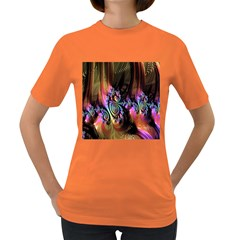 Fractal Colorful Background Women s Dark T-Shirt