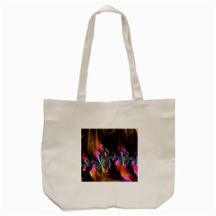 Fractal Colorful Background Tote Bag (Cream)