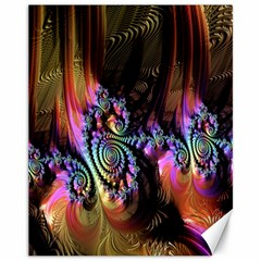 Fractal Colorful Background Canvas 11  x 14