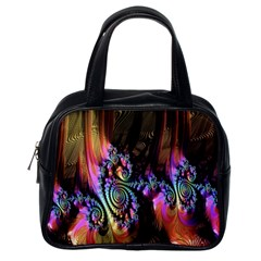 Fractal Colorful Background Classic Handbags (One Side)