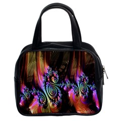 Fractal Colorful Background Classic Handbags (2 Sides)