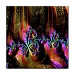 Fractal Colorful Background Face Towel