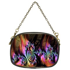 Fractal Colorful Background Chain Purses (Two Sides)
