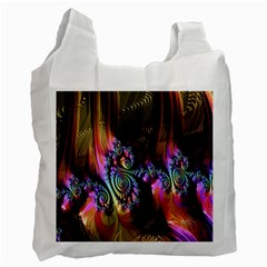 Fractal Colorful Background Recycle Bag (two Side)