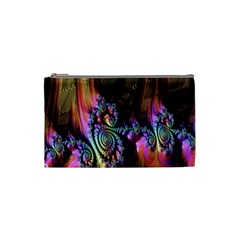 Fractal Colorful Background Cosmetic Bag (Small)