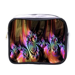 Fractal Colorful Background Mini Toiletries Bags