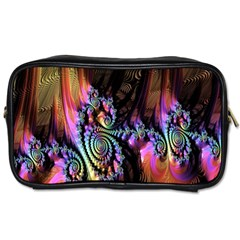 Fractal Colorful Background Toiletries Bags 2 Side