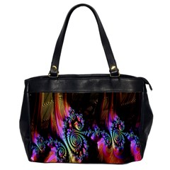 Fractal Colorful Background Office Handbags