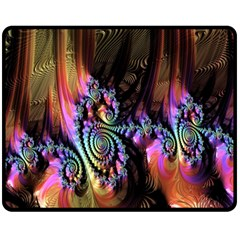 Fractal Colorful Background Fleece Blanket (Medium)