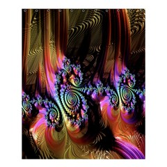 Fractal Colorful Background Shower Curtain 60  x 72  (Medium)