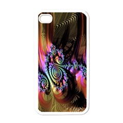 Fractal Colorful Background Apple Iphone 4 Case (white)