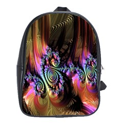 Fractal Colorful Background School Bags (XL)