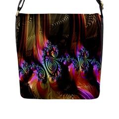 Fractal Colorful Background Flap Messenger Bag (L)