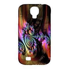 Fractal Colorful Background Samsung Galaxy S4 Classic Hardshell Case (pc+silicone)