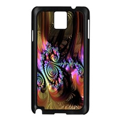 Fractal Colorful Background Samsung Galaxy Note 3 N9005 Case (black)