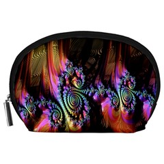 Fractal Colorful Background Accessory Pouches (large)