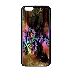 Fractal Colorful Background Apple Iphone 6/6s Black Enamel Case