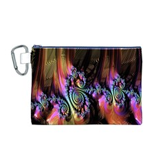 Fractal Colorful Background Canvas Cosmetic Bag (M)