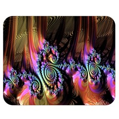 Fractal Colorful Background Double Sided Flano Blanket (medium)