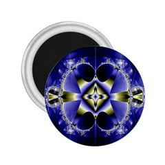 Fractal Fantasy Blue Beauty 2.25  Magnets