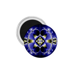 Fractal Fantasy Blue Beauty 1.75  Magnets