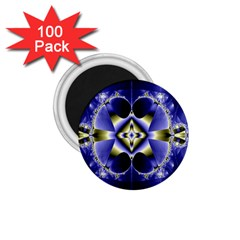 Fractal Fantasy Blue Beauty 1.75  Magnets (100 pack)