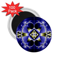 Fractal Fantasy Blue Beauty 2.25  Magnets (100 pack)