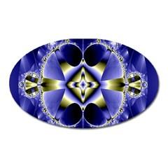 Fractal Fantasy Blue Beauty Oval Magnet