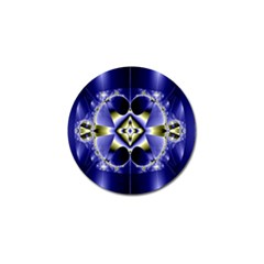 Fractal Fantasy Blue Beauty Golf Ball Marker (4 Pack)