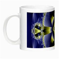 Fractal Fantasy Blue Beauty Night Luminous Mugs