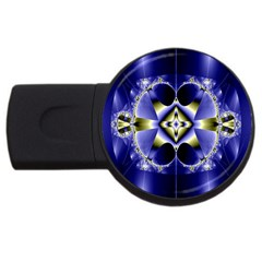 Fractal Fantasy Blue Beauty USB Flash Drive Round (4 GB)