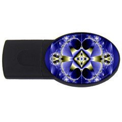 Fractal Fantasy Blue Beauty Usb Flash Drive Oval (4 Gb)