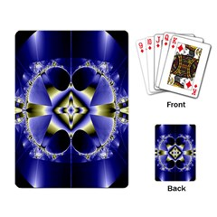 Fractal Fantasy Blue Beauty Playing Card