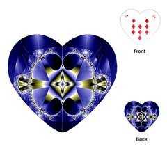 Fractal Fantasy Blue Beauty Playing Cards (Heart)