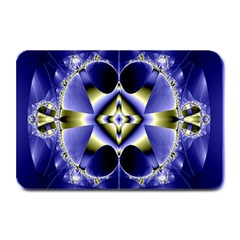 Fractal Fantasy Blue Beauty Plate Mats