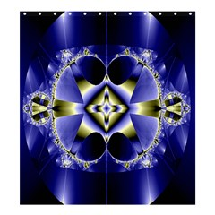 Fractal Fantasy Blue Beauty Shower Curtain 66  x 72  (Large)