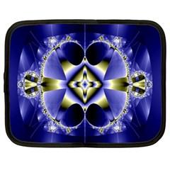 Fractal Fantasy Blue Beauty Netbook Case (XXL)
