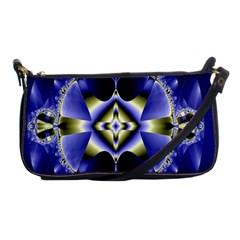 Fractal Fantasy Blue Beauty Shoulder Clutch Bags